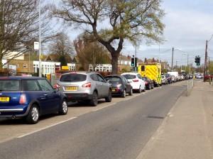 Queue on Ashingdon Road