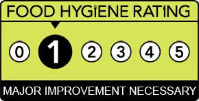 Food hygiene ratings in Southend