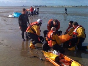 Southend's RNLI crews assist kitesurfer